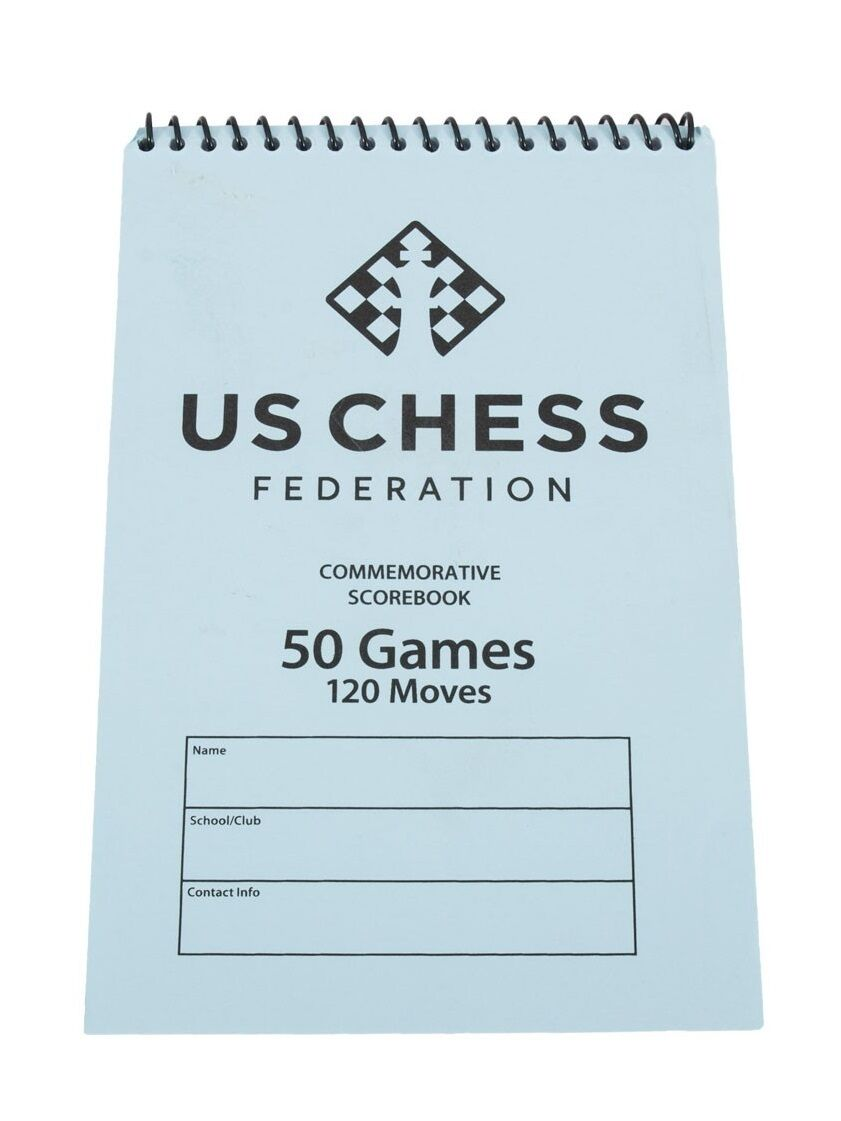 US Chess Federation Softcover Chess Scorebook - 50 Games – bluee Score Book