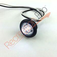 "3/4"" RV MARINE BOAT INTERIOR WHITE ROUND LED ACCENT LIGHT IP65 RECESSED MOUNT"