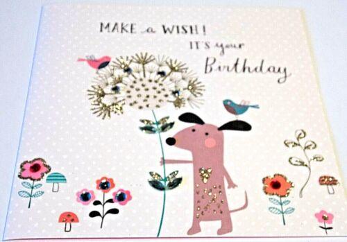 HAPPY BIRTHDAY CARD Guimauve Gamme par seconde Nature cartes. WISH thème