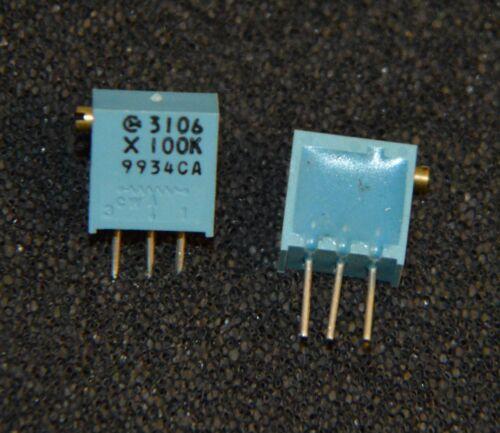 3 X 3 pezzi 100 K POT 64 serie tipo lato regolare 24 GIRO TRIMMER 10mm l2070