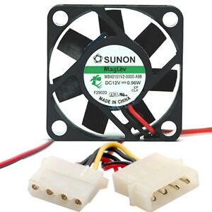 Sunon-MB40101V2-000U-A99-40mm-x-10mm-Vapo-Bearing-Fan-4-pin-Molex-DC12V-0-96W