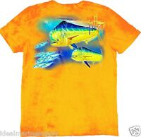 Guy Harvey Double Dodo Orange T-shirt Back Print Gulf Stream Wash W/gh Logo New.