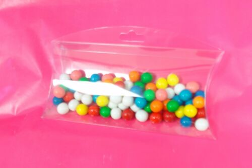 "50~ 5x3x1/"" Plastic PVC Pillow Box with Side Hang Tab Retail Display Favor Boxes"