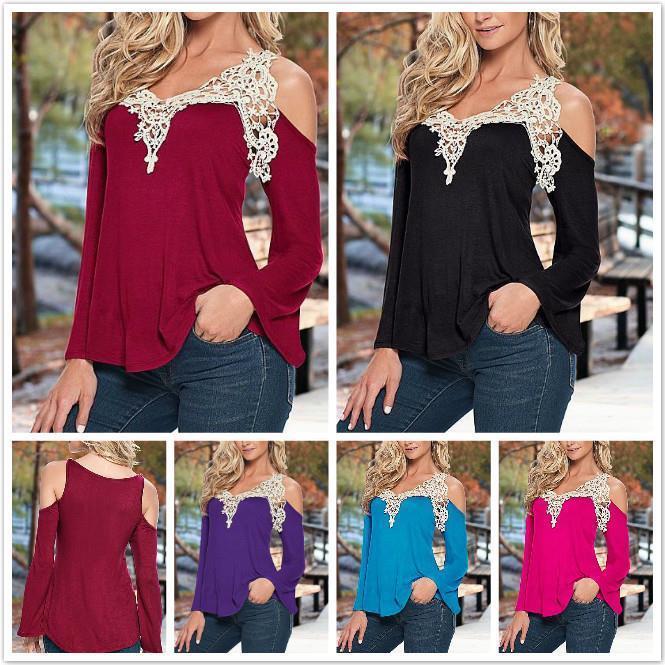 WHOLESALE BULK LOT 20 MIXED COLOR SIZE Off Shoulder Crochet Lace Top Blouse T170