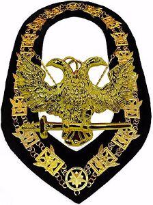 Masonic Scottish Rite 32 Degree Master of the Royal Secret regalia Apron bullio