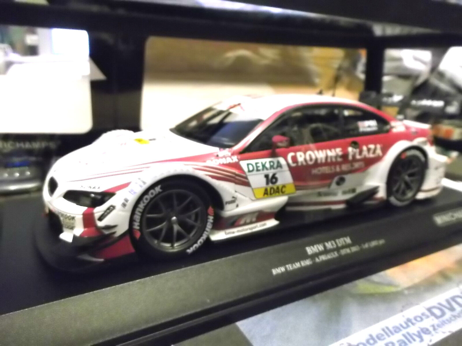 BMW m3 e92 COUPE DTM 2013 marchandises team Crowne plaza priaulx  16 Minichamps 1 18 New