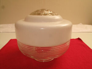 VTG-ART-DECO-CEILING-GLOBE-GLASS-SHADE-RIBBED-PEBBLED-WHITE