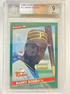 1986 Donruss The Rookies BARRY BONDS XRC #11, Pirates RC Rookie GOAT   BGS 9