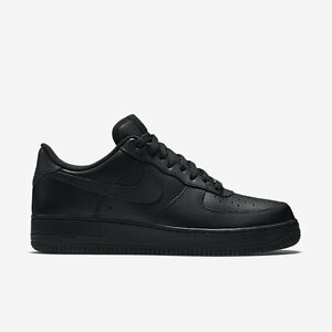 Nike Air Force 1 One Low Top All Triple Black 315122 001 AF1 Uptown Size 8-13