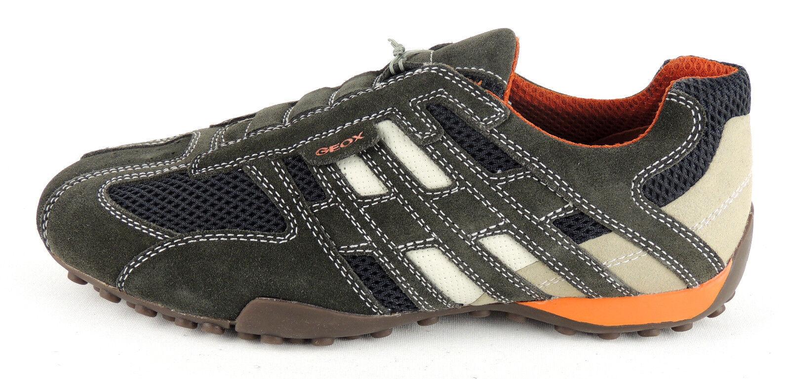 GEOX  Herren SNAKE Sneaker / Slipper  SNAKE Herren  dark Gris  Wildlederleder/Nylon dd5113
