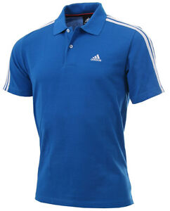 13d53a0b Image is loading New-Mens-Adidas-Essentials-Climalite-3-Stripe-Polo-