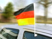 Aktion Deutschland - Fahne Mit Autohalterung 100 Stück
