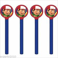Handy Manny Pencils W/ Toppers (4) Birthday Party Supplies Favors Stationery