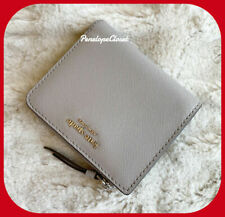 Kate Spade Leather Cameron Small L Zip Bifold Wallet in Soft Taupe