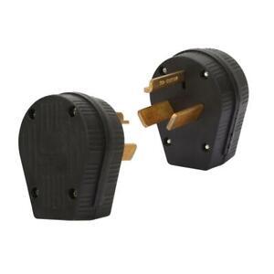 NEMA 10-30P US Type Three Hole Industrial Plug 30A 125V-250V Power Output