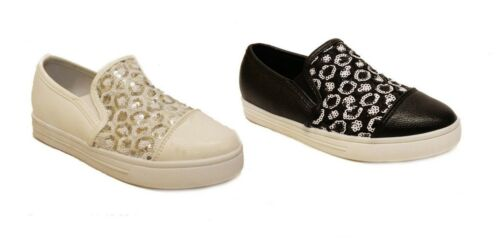 UK Kids Girls Slip On Flats Pumps Loafers Child Trainers Casual Party Shoes Size
