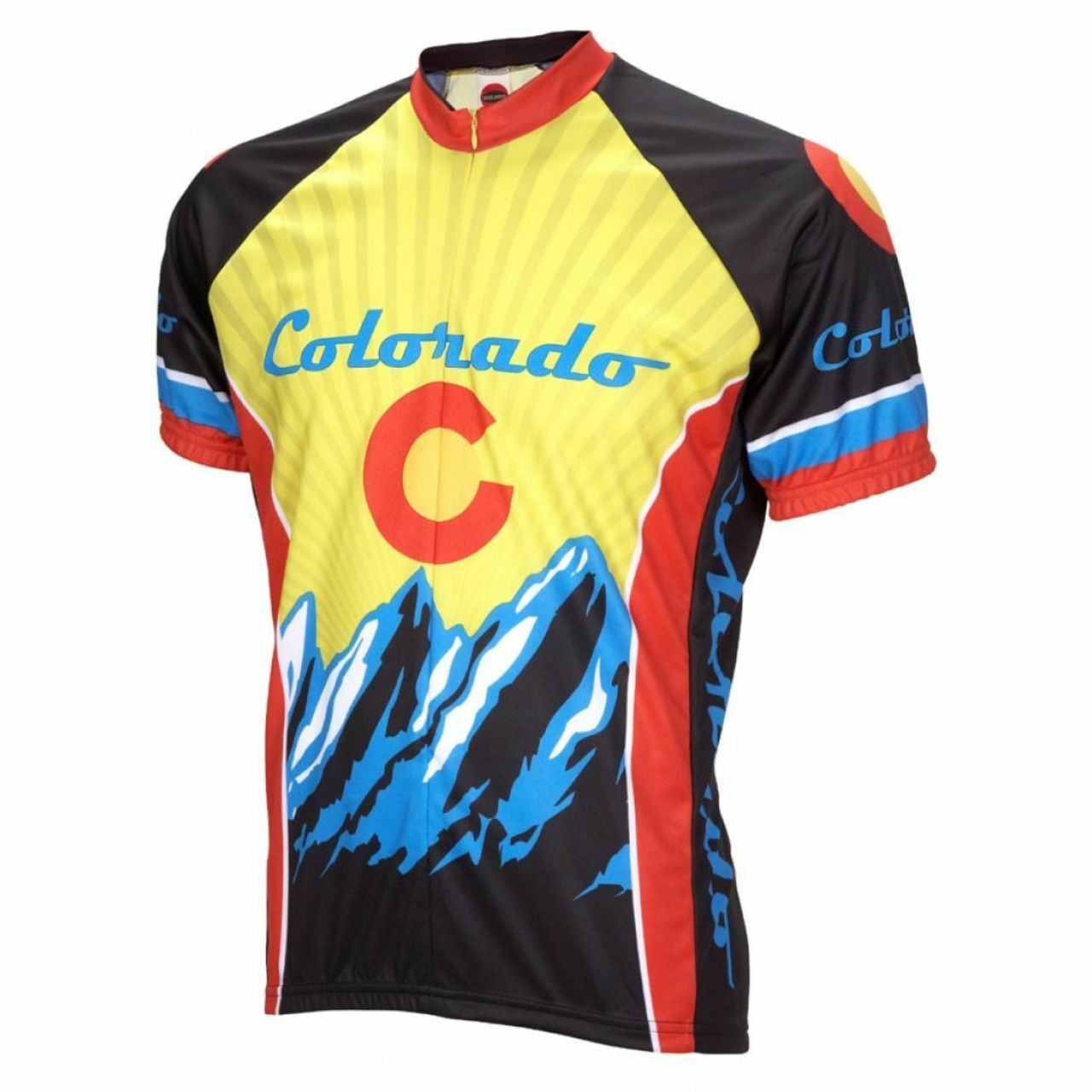 colorado State Logo Short  sleeve 19  zip men's cycling jersey  outlet factory shop