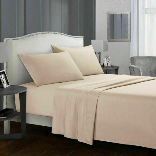 Hotel Luxury 1800 Count 4 Piece Deep Pocket Bed Sheet Set King Queen Size D3