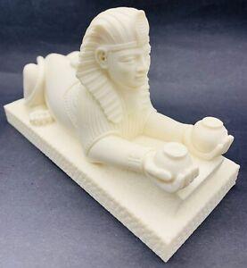 Artist-Giannilli-Egyptian-Statue-The-Great-Sphinx-Of-Giza-Signed-1995-Egypt-VTG