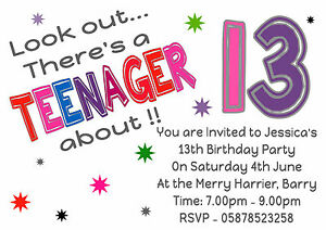 personalised look out there s a teenager about 13th birthday party