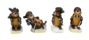 Marmotas-4-unidades-en-la-nieve-poly-modelo-Germany-Austria-Suiza