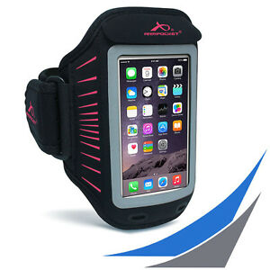 fuer-Smartphones-ARMPOCKET-Racer-Black-Pink-Sportarmband