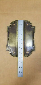 Lot-2-VTG-NOS-Furniture-Hardware-Backplates-BS-80318-K-Antique-Brass-Finish-8-034