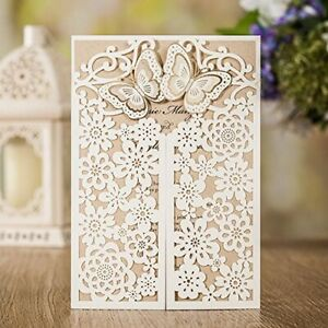 Download Laser Cut Floral Butterfly Wedding Invitations Card ...
