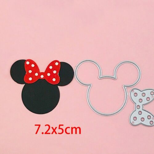 Mickey Mouse Craft Metal Cutting Dies Head Bow Scrapbook Paper Craft Album Decor