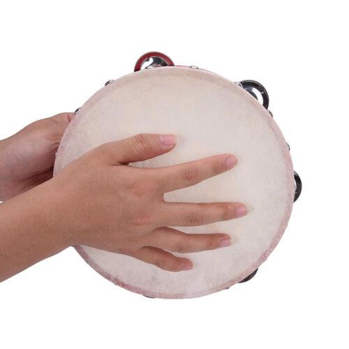 """8 /""""Musical Tamburin Tamborine Trommel Runde Percussion Geschenk für KTV Party CJ"""