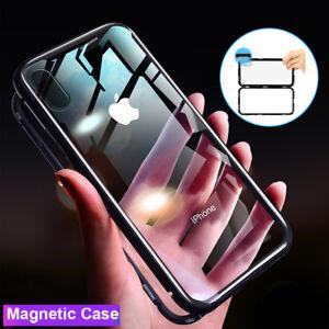 Magnetique-Absorption-Etui-pour-IPHONE-Se-5-5s-Xs-Max-Verre-Trempe-Housse-Dos