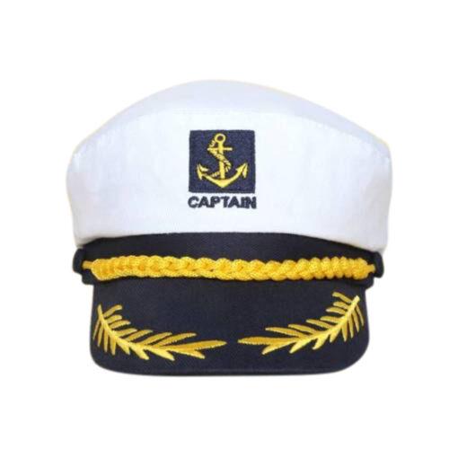Unisex Skipper Ship Sailor NavyYacht Military Captain Nautical Hat Cap .*