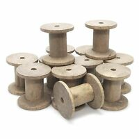 Empty Wooden Thread Spools Crafts Wood