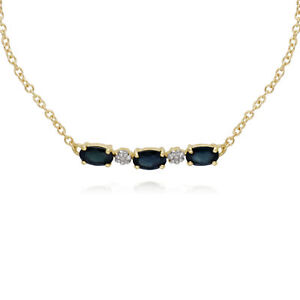 Gemondo-9ct-Yellow-Gold-Sapphire-and-Diamond-Five-Stone-19cm-Bracelet