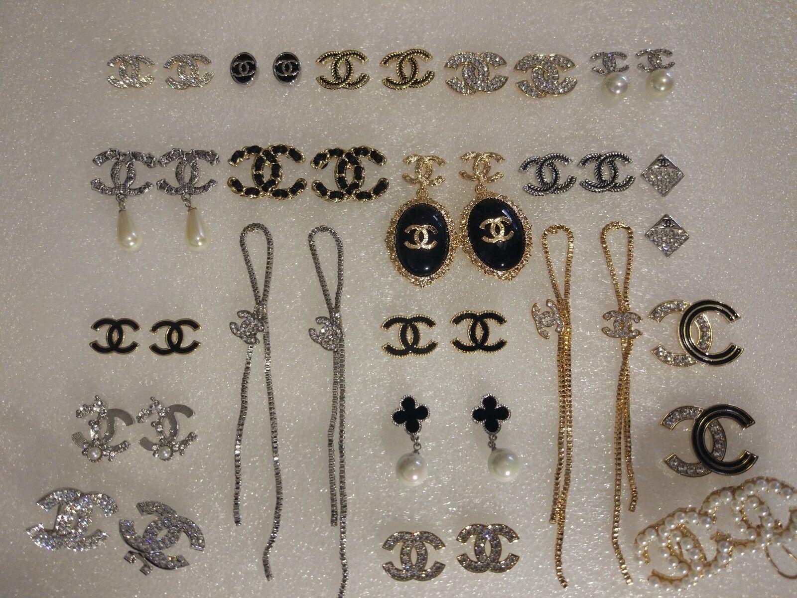 Fashion ladies random 10 pairs of letters crystal earrings