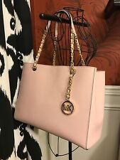 NWT MICHAEL KORS SAFFIANO LEATHER SUSANNAH LARGE TOTE BAG IN BLOSSOM