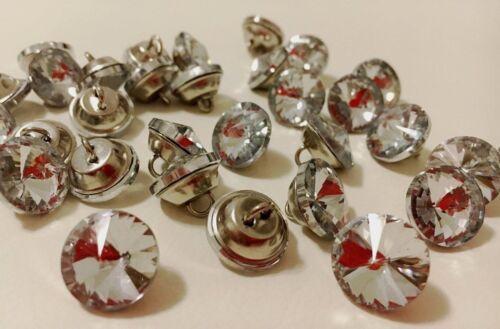 Strass.Kristall ** 10 St Knopfe.Buttons.Tasten.Polsterknöpfe.Botones.Bling Bling