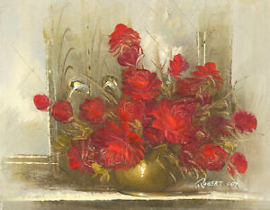 Robert-Cox-20th-Century-Oil-Red-Roses