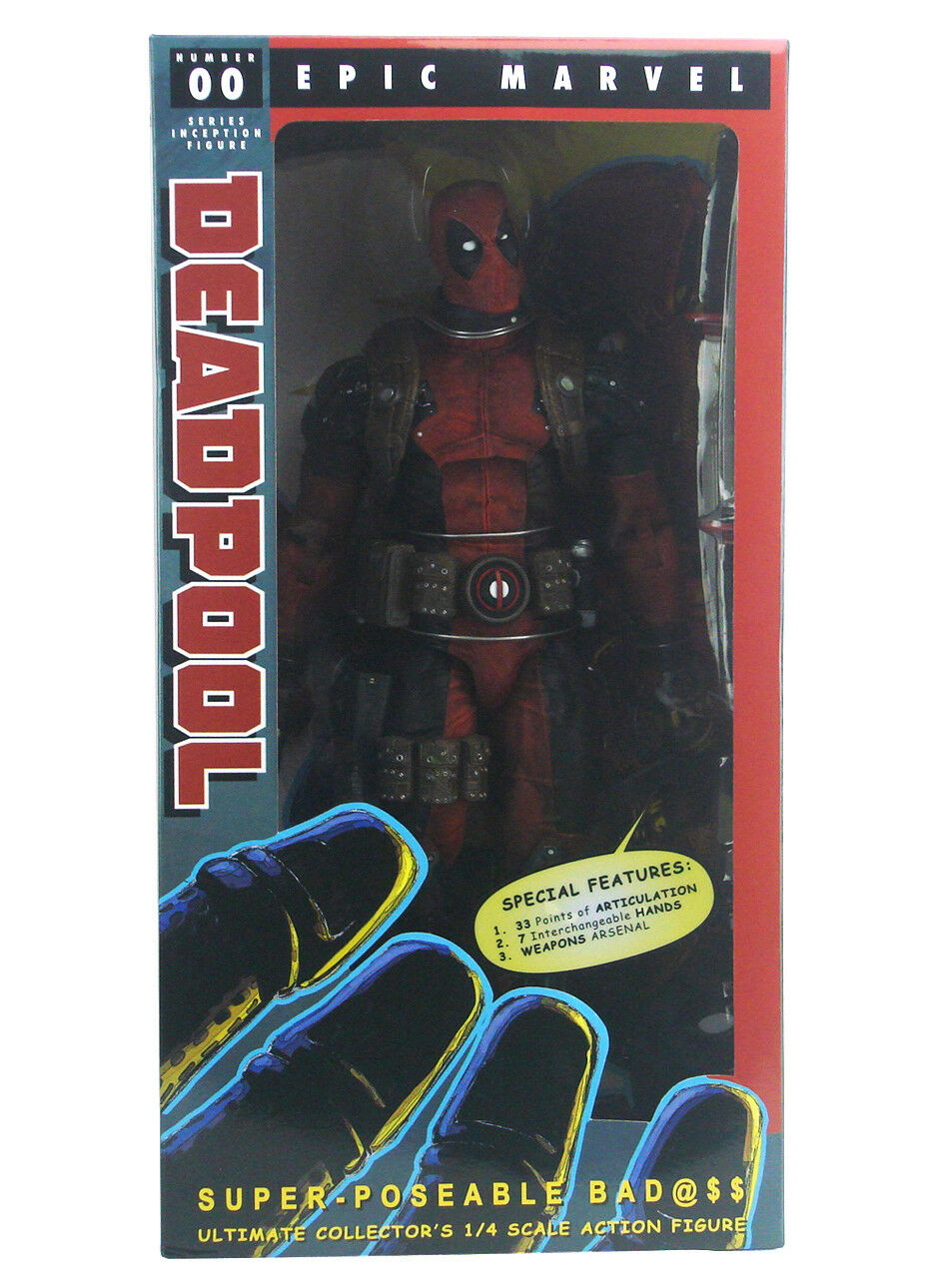 Neca Ultimate Deadpool 1 4 Scale Figure Epic Marvel Comics 18  Inch New In Box