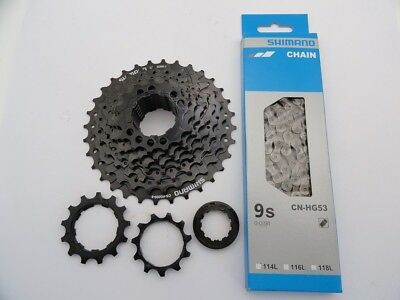 MEU SHIMANO KETTE LX  HG 73  Fahrradkette 116 Glieder 9-fach für MTB /& Rennrad