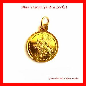 Maa durga yantra pendant locket yellow thread hindu goddess durga image is loading maa durga yantra pendant locket yellow thread hindu mozeypictures Image collections