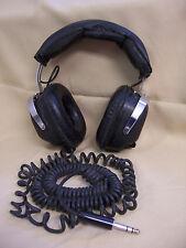 """VINTAGE FEN-TONE DR-100-A HEADPHONES 1/4"""" PLUG R&L SLIDING VOLUME CONTROLS 8 OHM"""