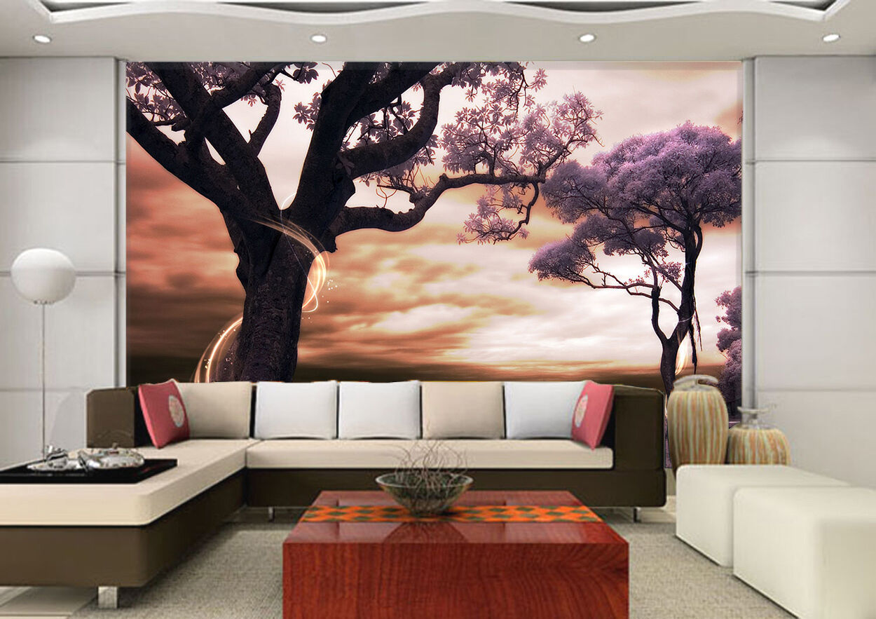 3D Nature, trees 325 Wall Paper Print Wall Decal Deco Indoor Wall Murals