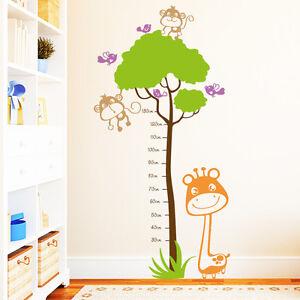 Adesivo Da Parete Camera Bambini Metro A Nastro Per Giraffa