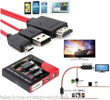 2M Micro USB To HDMI MHL 1080P Cable Adapter For Samsung Galaxy S5 S4 Note 3 Tab