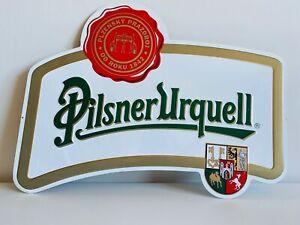 Pilsner-Urquell-birra-ceca-Targa-Pubblicitaria-in-latta-in-rilievo