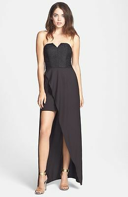 NWOT  black  Keepsake the label strapless Gown XS
