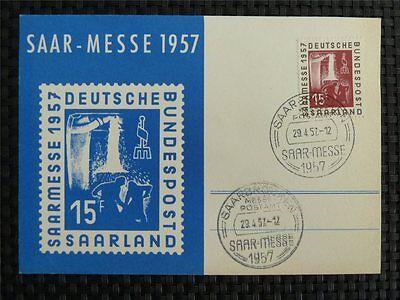 Briefmarken GroßZüGig Saar Mk 1957 400 Saarmesse Maximumkarte Carte Maximum Card Mc Cm C1627