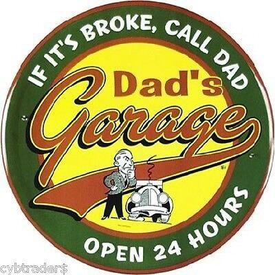 Dad's Garage  Service  Sign Refrigerator / Tool Box Magnet