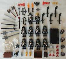 10 NEW LEGO CASTLE KNIGHT MINIFIG LOT Skeleton figures minifigures black bones